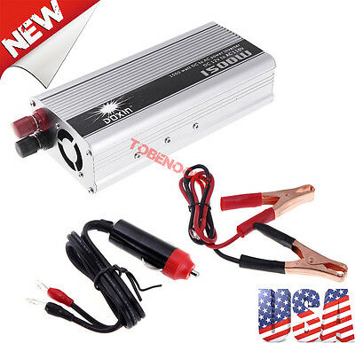 1500w Modified sine wave power inverter DC 12V to AC 110V/power tool USA Stock