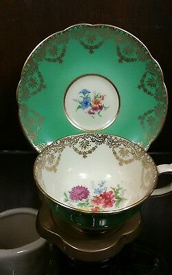 Vintage Paragon Hm Queen Mary Fine Bone China Floral Tea Cup & Saucer