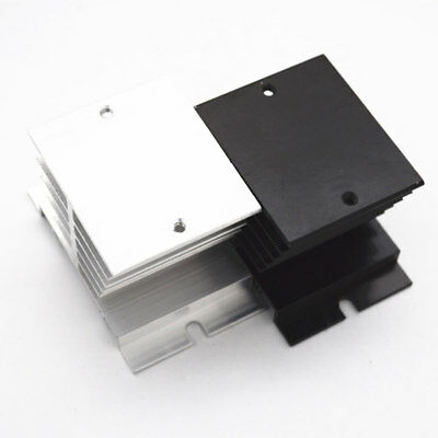 Aluminum Alloy Heat Sink DIN Nail Mount for 10A to 40A Solid State Relay