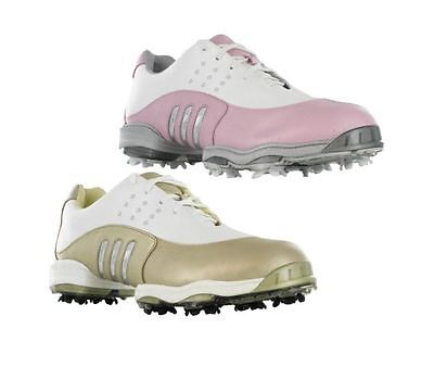 Adidas Golf Tour Metal Leather Adiprene Spike Z-Traxion Womens FitFoam Shoes