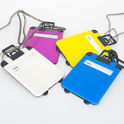 5x LUGGAGE TAGS SUITCASE BAG TAG LABEL NAME ADDRESS ID TAGS TRAVEL HOLIDAY -UK