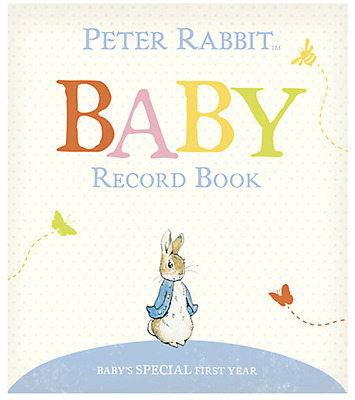 Peter Rabbit Baby Record Book - Beatrix Potter Baby Gift - SAME DAY DISPATCH!