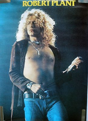 Rare Led Zeppelin Robert Plant 1979 Vintage Original Music Poster