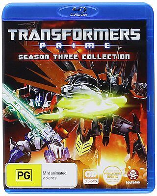 TRANSFORMERS PRIME : SEASON 3 COLLECTION  animation   BLU RAY - Sealed Region B