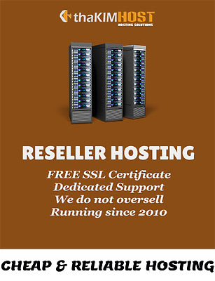 RESELLER WEB HOSTING - cPanel/WHM - Softaculous - With FREE SSL Certificate