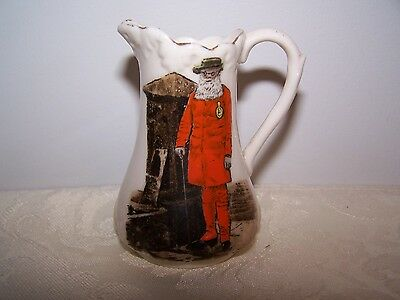 Hereford Redcoat Man Small Porcelain Pitcher / Jug - Robinson & Leadbeater Eng.