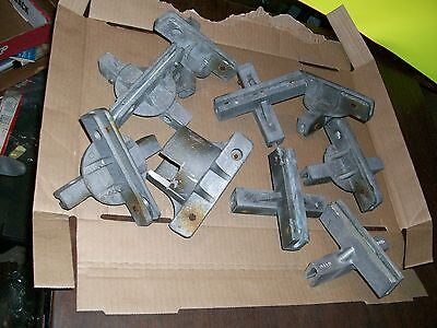 LOT OF 9 street sign holder Brackets cross and post  road signs aluminum used