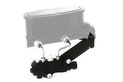 Black Disc/Drum Proportioning Valve w/ Bracket/Lines for Wilwood Master Cylinder