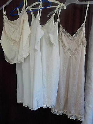 Vintage Full Slips (3) (1) Camisole Shadow Line Sears Noncling A Cut Above Sz 38