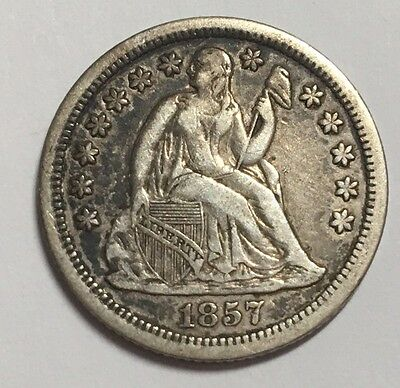 1857-O 10C Seated Liberty Dime XF-AU