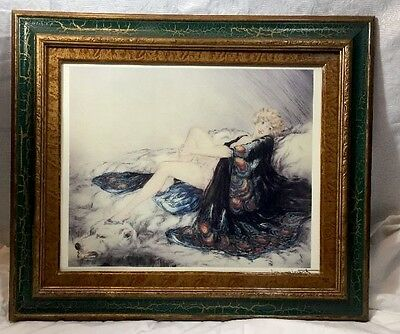 "LOUIS ICART Framed Signed Print From 1927 Original Art ""The Silk Robe"""