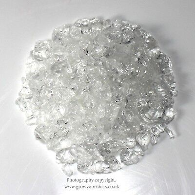 Clear 100g Crushed Glass Chippings for crafts or pot toppings