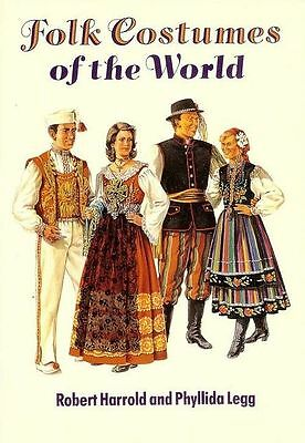 Folk Costumes of the World, 80 Color Plates!