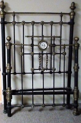 Antique Brass & Iron Twin Bed from Greece