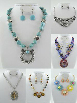 50PC WHOLESALE LOT Costume FASHION JEWELRY NECKLACE EARRINGS  (25 Set)