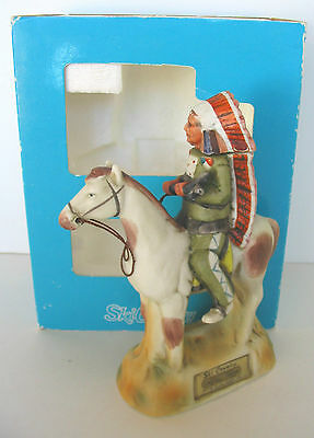 1978 Indian Chief Warrior # 2 With Hatchet On Horse Ski Country Mini Decanter