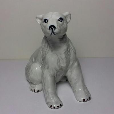 "Vintage Polar Bear - 3 1/2"" Tall Ceramic Figurine - NORCREST? NAPCO?"