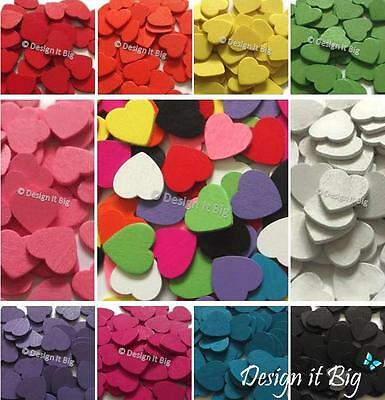 18mm Wooden Love Hearts Craft Embellishment Shapes Wedding Decor Table Confetti