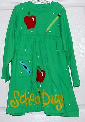 coton colors Green Cotton DRESS Children's Clothing Size 2-3 years NWOT