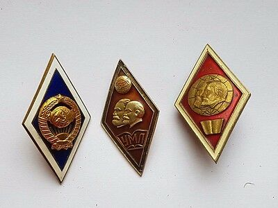 USSR Marxism-Leninism ORIGINAL badges - rhombus University!