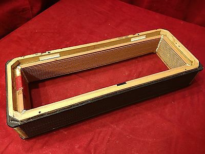 "Black Hohner Atlantic III Accordion Repair Part - Bellows 19"" x 7.5"" 16 Folds"