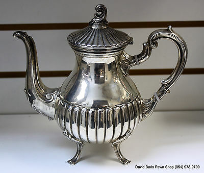 Vintage Del Pilar Peru 925 Sterling Silver Teapot Coffee Pot  16.5 OZ
