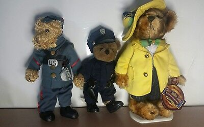 Lot of 3 Brass Button Bears Mookie 1930's Zuit Suit 20th Century Collectibles