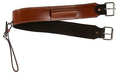 Pro Leather Chestnut Rear Flank Back Girth Horse Western Saddle Cinch Tack