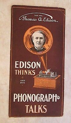 Vintage victorian advertising trade card EDISON PHONOGRAPH business in YORK PA