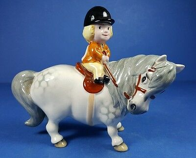 Beswick Angels On Horseback 1981 Norman Thelwell Pony Figurine