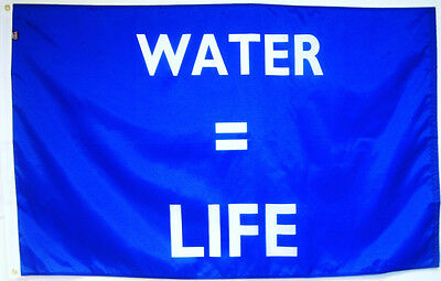 WATER EQUALS LIFE Screen-printed 3'x5' Nylon Flag