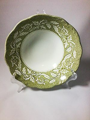 J & G Meakin Sterling Renaissance Green Coupe Cereal Bowl 6 1/2 in.