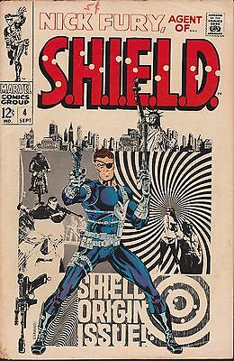 Marvel Nick Fury Agent of SHIELD (1968) #4 Origin Story Steranko HQ Scans