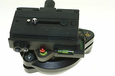 Manfrotto leveling tripod head with Giottos quick release+plate
