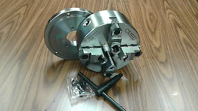 "8"" 4-Jaw Self-Centering  Lathe Chuck top&bottom jaws w. D1-4 adapter plate-new"