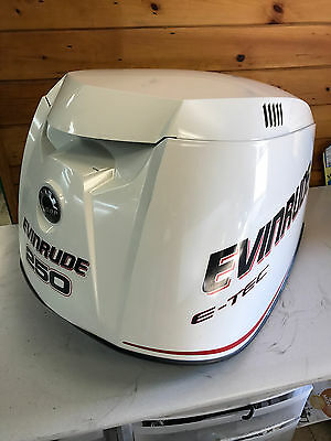 2010 Evinrude E Tec 250 Hp 2 Stroke Outboard Top Cowl Hood Cover Freshwater MN