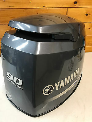 2006 Yamaha F 90 Hp 4 Stroke Outboard Motor Top Cowl Cover Hood Freshwater MN
