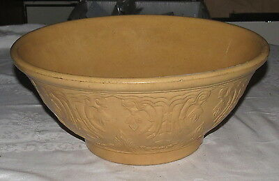 """Very Large 15"""" Earthenware Pottery Mixing Bowl Warranted Fireproof"""