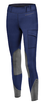 Noble Outfitters Womens Balance Riding Tights - Navy Blue/Granite