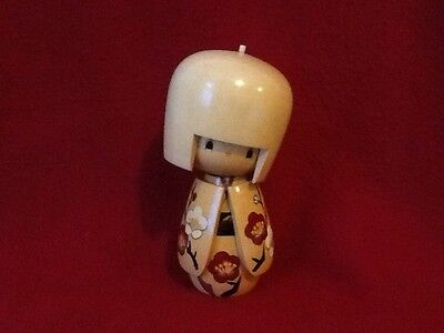 """Kokeshi Doll """"Cherry Blossom"""" with Artist Stamp"""