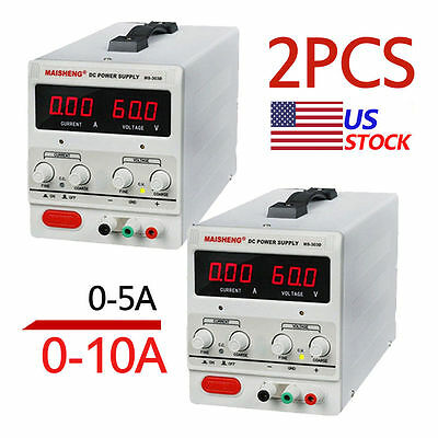 0 PC 5/10A 30VDC Power Supply Adjustable Dual Digital Variable Precision LOTTO