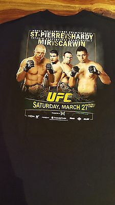 extremely rare UFC St-Pierre vs Hardy T-shirt (men XXL)