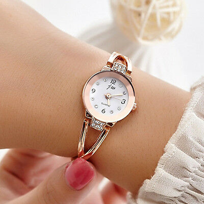 Women Waterproof Bangle Quartz Wristwatch Stainless Steel Bracelet Fashion Watch