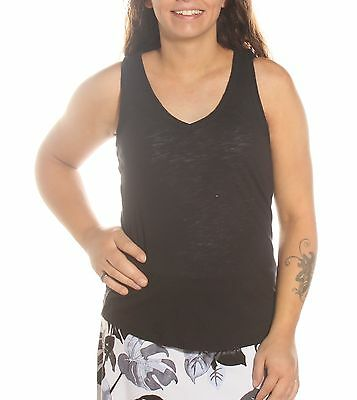$20 New 0355 MAISON JULES Solid BLACK Casual Top S BAB