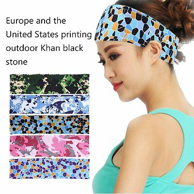 Floral Headband Sweatbands Sweat Band Head Band Running Badminton Sport Yoga IB