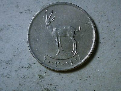 United Arab Emirates 25 fils 2007 Deer
