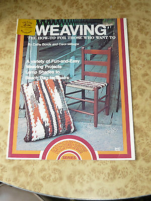 Retro Weaving How To Vintage 70s Instruction Project Pattern Book 1977 Weaveasy