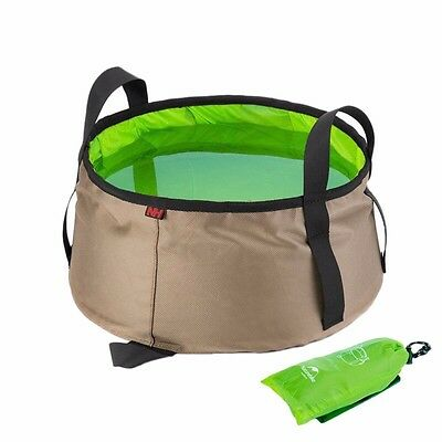 10L Portable Outdoor Round Folding Water Washbasin Camping Picnic Oxford Bag