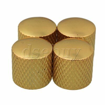 4pcs Guitar Parts Gold Metal Dome Knobs for Guitar & Bass