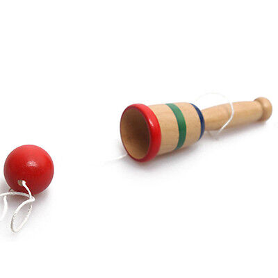 Japanese Traditional Wooden Kendama Ball Game Balance Educational Toy Remarkable